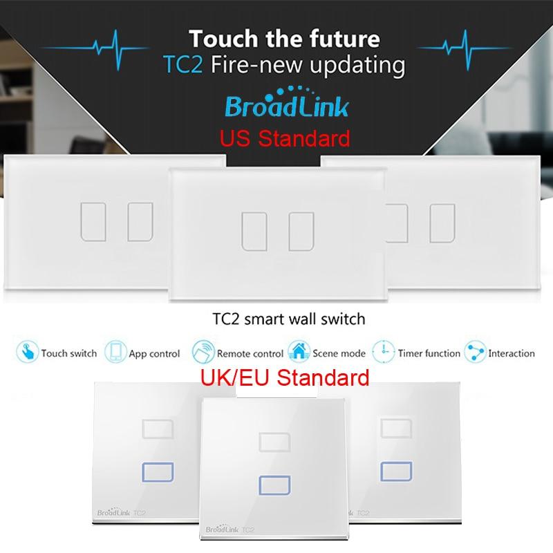 Interruptor de luz Broadlink Wifi TC2 2gang Interruptor de pared - Electrónica inteligente