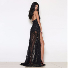 2017 Summer Fashion Clothes China Black Pink Sequin Dress Slip Dress Women Clothing Feminina Robe Sexy Long Dresses Vestidos