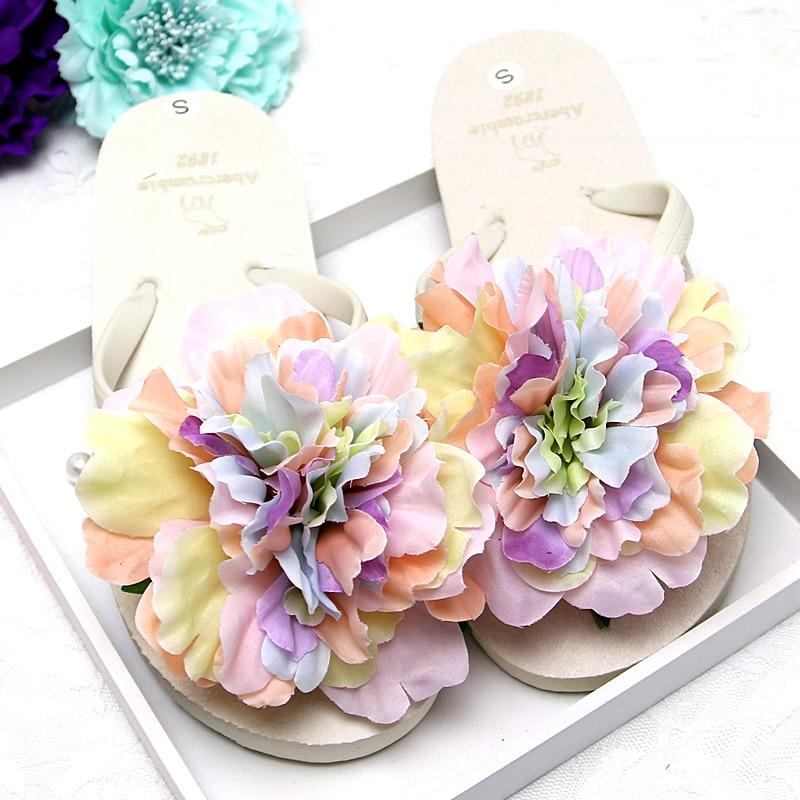 2017 New Women Sandals Fashion Flower Summer Wedges Flip Flops Platform Slippers Shoes Zapatillas Chinelo Sandalia 8colors 35-40