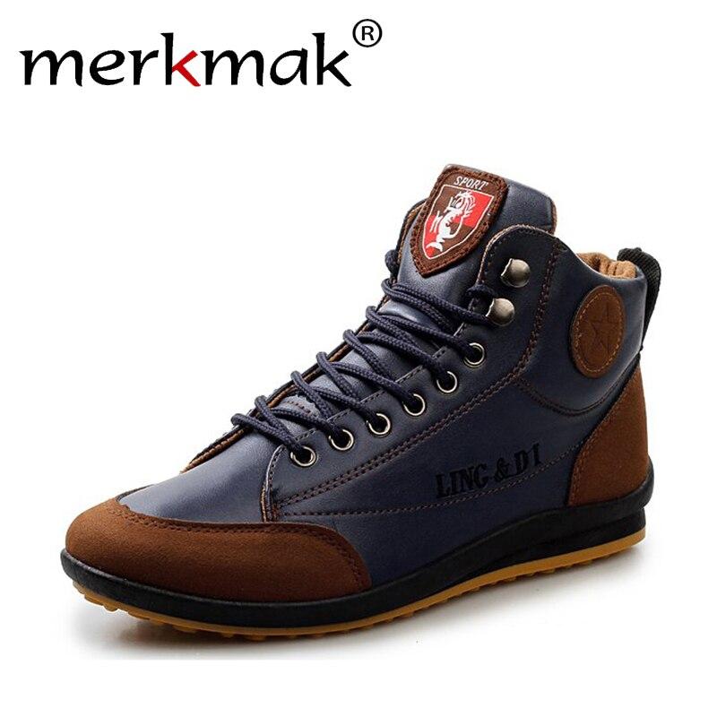 Nuovo 2018 Stivali di pelle uomini di Modo di autunno inverno Caldo Cotone stivali di Marca caviglia lace up Scarpe uomo calzature trasporto libero LS003