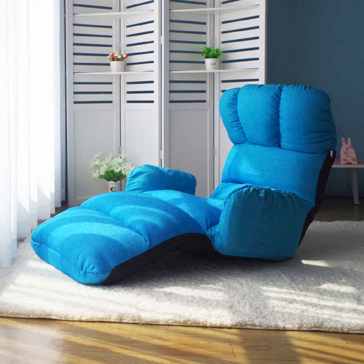 Foldable Chaise Lounge Chair 6 Color Adjustable Recliner Living Room Furniture Japanese Style Daybed Sleeper Sofa Armchair japanese style armchair folding furniture legs height adjustable lazy arm chair for elderly home living room foldable chair