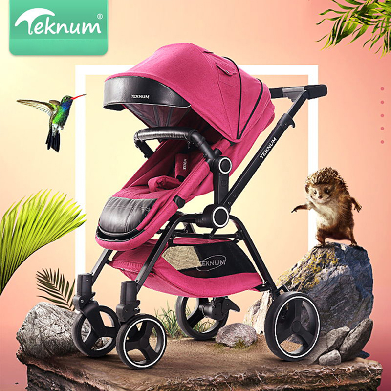TEKNUM-New baby stroller light folding umbrella car can sit can lie ultra-light portable on the airplane 2018 new style baby carriage baby stroller light folding umbrella car can sit can lie ultra light portable on the airplane