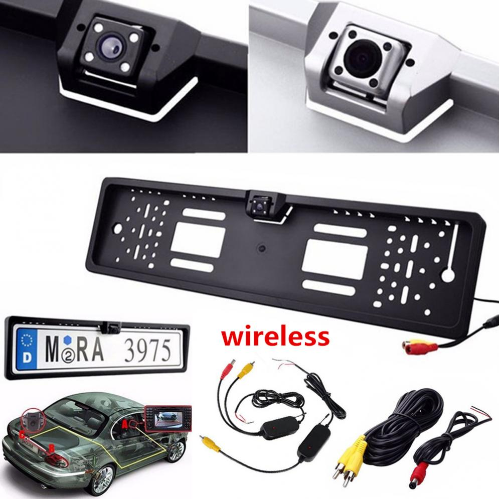 2.4G Wireless European Car Licence Plate Camera HD Car Rear View real time Reverse Camera Number Frame with led Night Vison