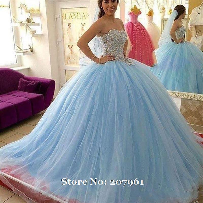 Online Get Cheap Light Blue Long Quinceanera Dresses -Aliexpress ...