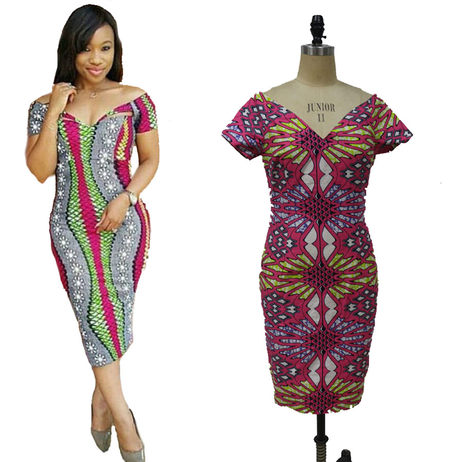 2017 Beautiful African Dress For Women On Sales African Fabric African Wax Print Fabric 100