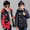 2016 winter Kids boys Imitation fur collar letters thicken warm Cotton coat  comfortable cute baby Clothes Children Clothing