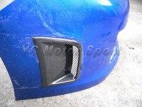 Acessórios do carro de fibra de carbono estilo cs ventilação lateral 2 pcs fit for 2008-2012 sti grb hatchback oem frente bumper aberturas laterais