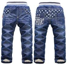 2017 new arrival heat thick winter pants for Boys KK-Rabbit model youngsters boy denims large boys denims retail