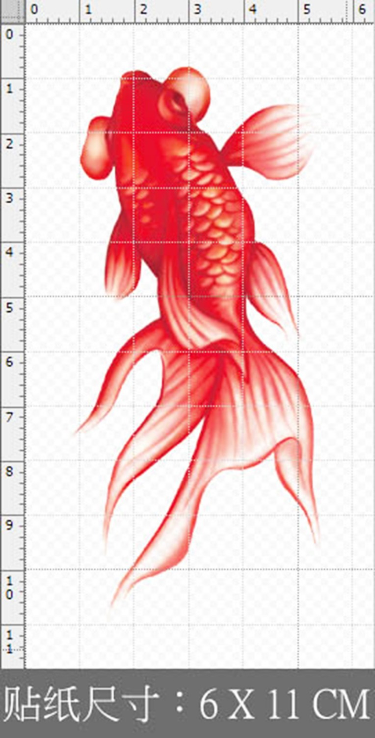 Red carp goldfish red fish waterproof color tattoo tattoo stickers-in Temporary Tattoos from Beauty & Health on Aliexpress.com | Alibaba Group