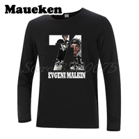 Men Long Sleeve Pittsburgh Evgeni Malkin 71 Russia hockeying Star T Shirt Clothes T Shirt Men's Autumn Winter W17110803