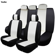 Yuzhe Universal auto Leather Car seat cover For BMW e30 e34 e36 e39 e46 e60 e90 f10 f30 x3 x5 x2 x1 f11 automobiles accessories yuzhe auto flax set car seat covers for bmw e46 e36 f10 e30 e90 f30 e34 e39 f11 g30 e60 automobiles car accessories styling