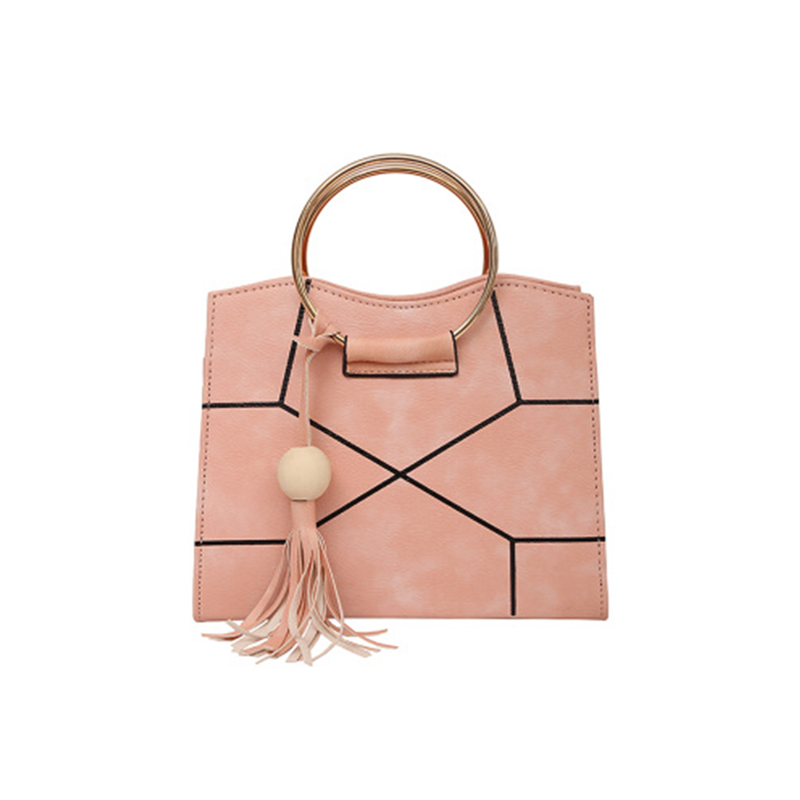 Fashion Women Big Ring Tassel Crack Handbag New Ins Popular Female Casual Messenger Bags Holiday Lady Shoulder Crossbody Ss3485 For Sale Luggage & Bags Shoulder Bags