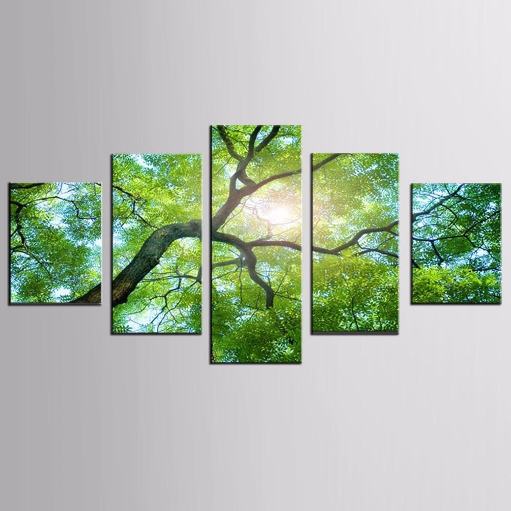 5 Panely Moderní plátno Výtisky Umění Krajina Obrázky Decor Modulární Vysoká kvalita Obrázky HD Tisk Malba