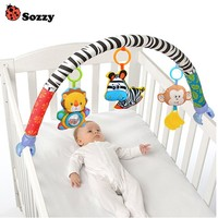 Sozzy Baby Bed Mobile Crib Birth Gifts Rattle Stroller Hanging Toys Cots Seat Plush Cute Toy Newborn Infant Ring Bell Teether