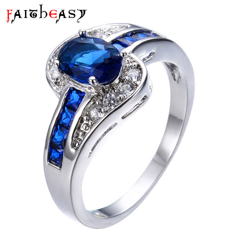 Faitheasy Fashion Silver Color Stainless Steel Ring Charm Jewelry Engagement Wedding Rings For Women Birthday Gifts Ladies image