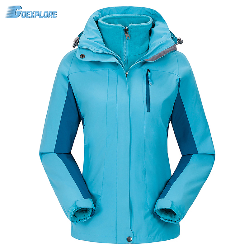 Dropshipping winter Camping sports coat Women slim jacket tourism mountain jackets waterproof Windproof outdoor jacket носки горнолыжные мужские merinofusion winter sports all mountain brid
