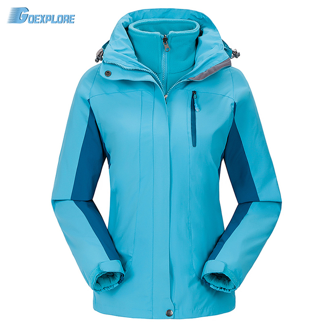 Dropshipping winter Camping sports coat Women slim jacket tourism mountain jackets waterproof Windproof outdoor jacket