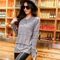 Women S Sweaters Spring New Lace Knitted Sweater Sets At The End Of The First Two