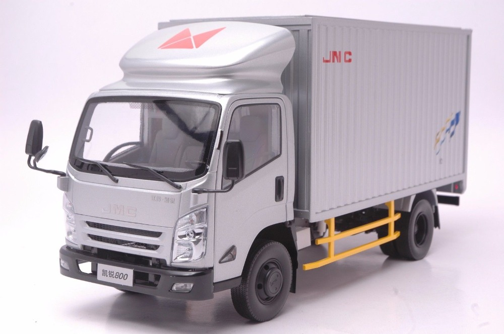 1:18 Diecast Model for JMC Kairui N800 800 Silver Truck Alloy Toy Heavy Collection green 1 24 scale foton lovol m2104 k tractor diecast model truck alloy toy m2104k