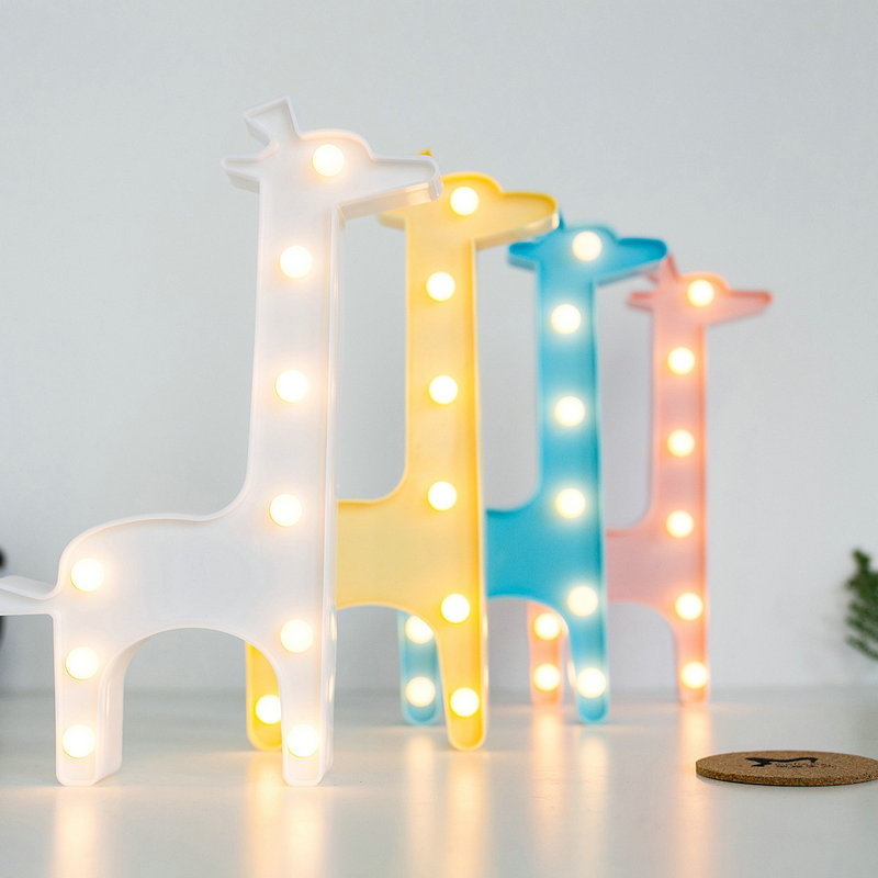 Lovely Animal LED 3D Light Night Light Kids Gift Toy For Children Bedroom Party Home Decoration Lamp Indoor Lighting