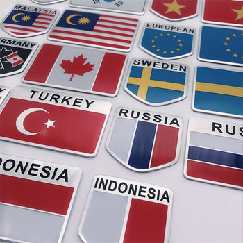 Aluminum Alloy America France England National Flags Car Styling Motorcycle Luggage Decal Emblem Badge car sticker image