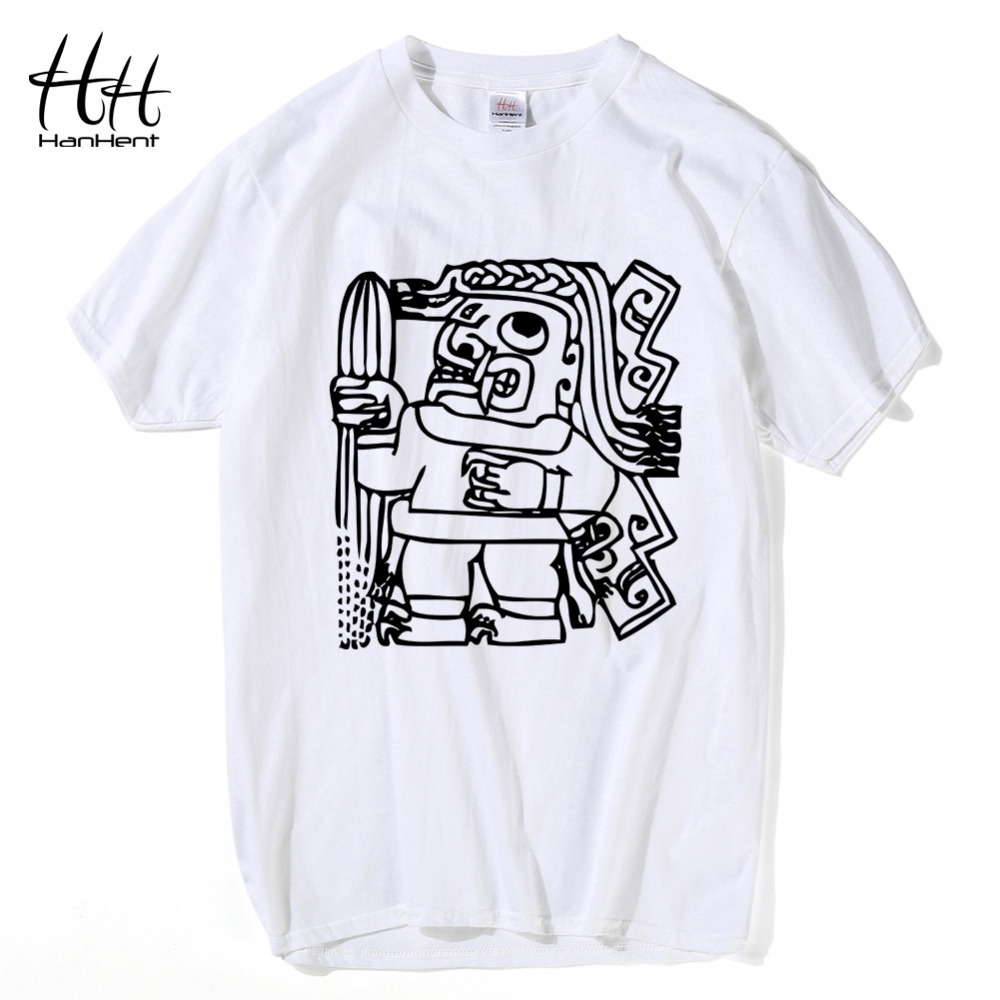 Design t shirt price - Hanhent New Egypt Culture T Shirts Man S Summer Style Short Sleeve Cotton Tops Tees Retro Style