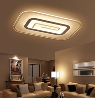 Slim Acrylic LED Ceiling Light Living Room Bedroom Study Room Lamp Office & Commercial Ceiling Lamp 110-240V