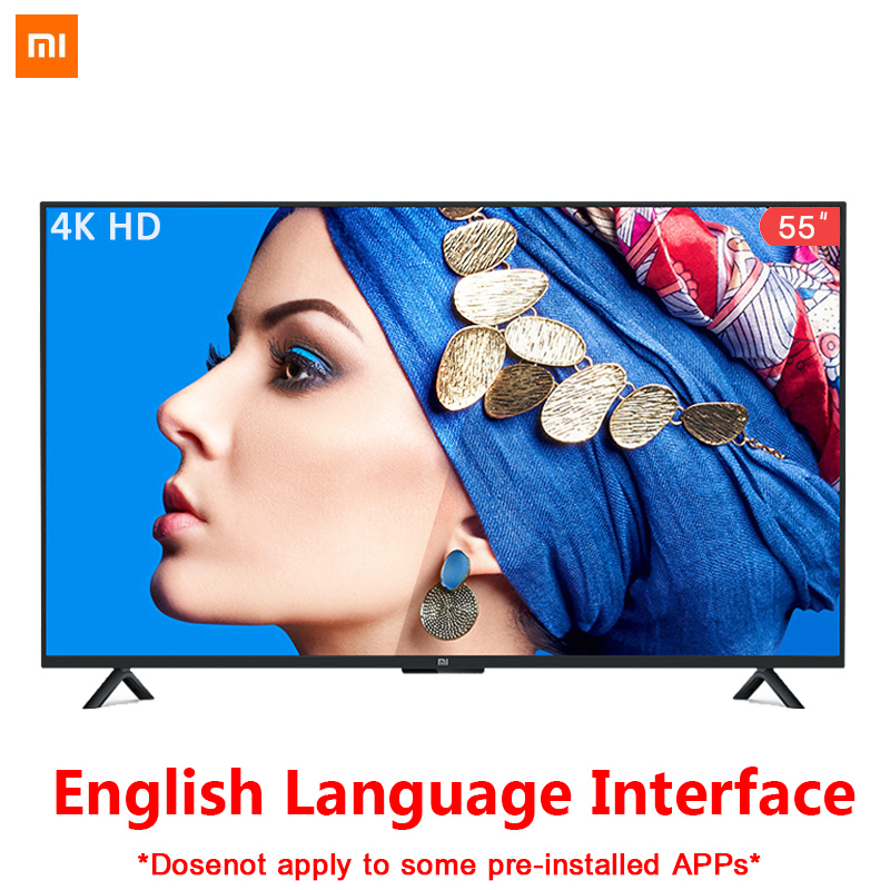 Xiaomi Smart 4A <font><b>55</b></font> <font><b>inches</b></font> 3840*2160 FHD Full 4K HD Screen <font><b>TV</b></font> Set HDMI WIFI Ultra-thin 2GB Ram 8GB Rom Game Play Display Dolby image