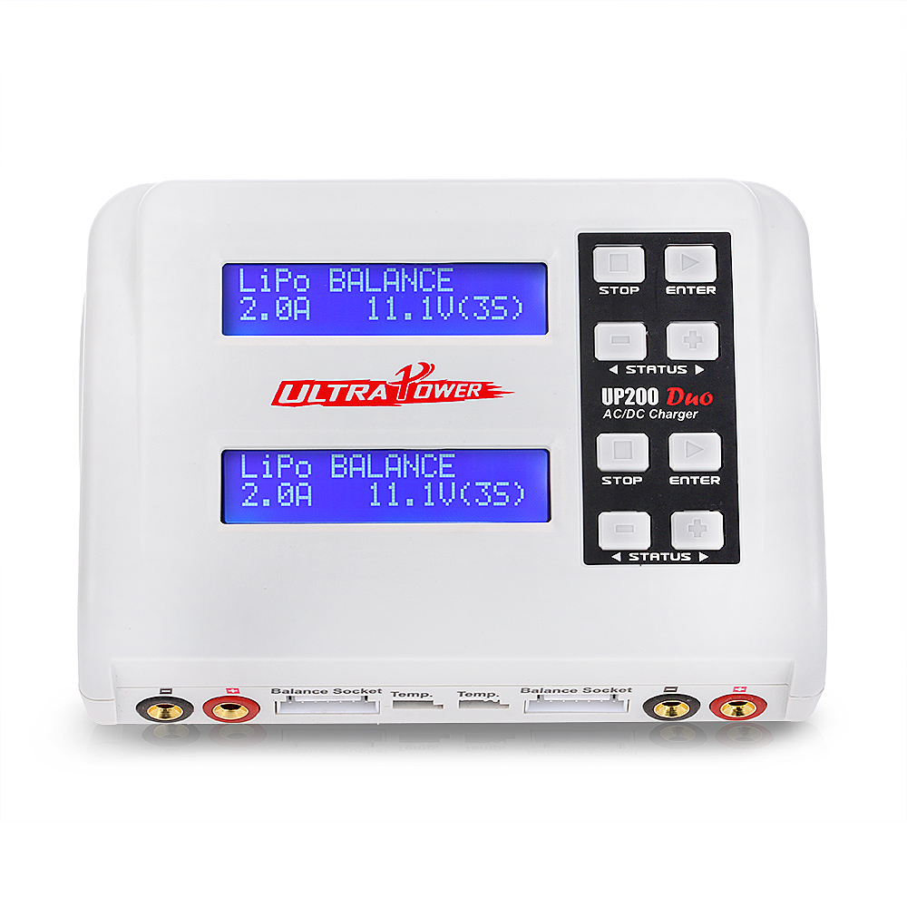 Ultra Power UP200 DUO 200W 10A AC DC Battery Balance Charger Discharger for LiPo LiFe Lilon