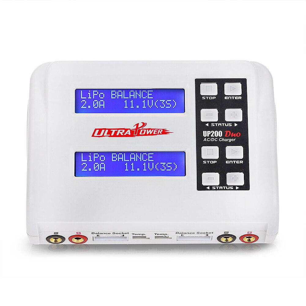 Ultra UP200 DUO 200 W 10A AC/DC batería Balance cargador Discharger para LiPo vida Lilon LiHV NiCd niMh Pb RC de la batería-in Partes y accesorios from Juguetes y pasatiempos    1