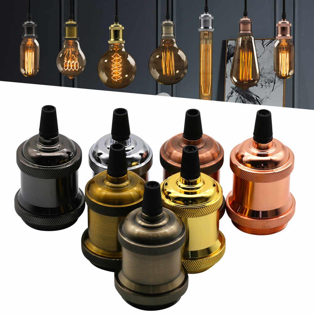 Vintage Retro Edison Lamp Pendant light E27 Socket Pendant lights Screw Bulb base Aluminum Light Industrial Retro Lamp Holder