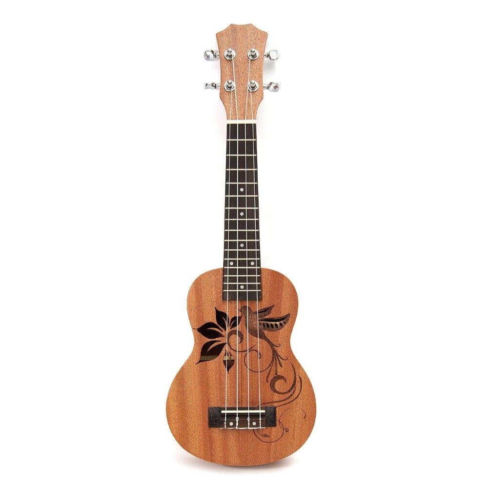 Zebra 21 Mini Sapele Ukulele Ukelele Rosewood Fingerboard Guitar Mahogany Neck Delicate Tuning Peg Nylon String Matte Kids Gift