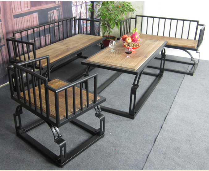 Muebles pa s de am rica sala mesa de caf de hierro - Muebles de hierro forjado para jardin ...