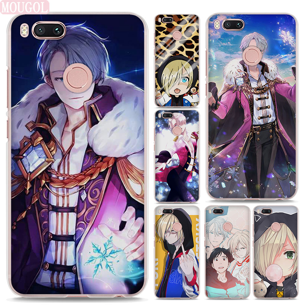 MOUGOL Yuri on ice design hard clear Phone shell Case for Xiaomi Mi 6 5s for Redmi 5A 4A Note3 Note4