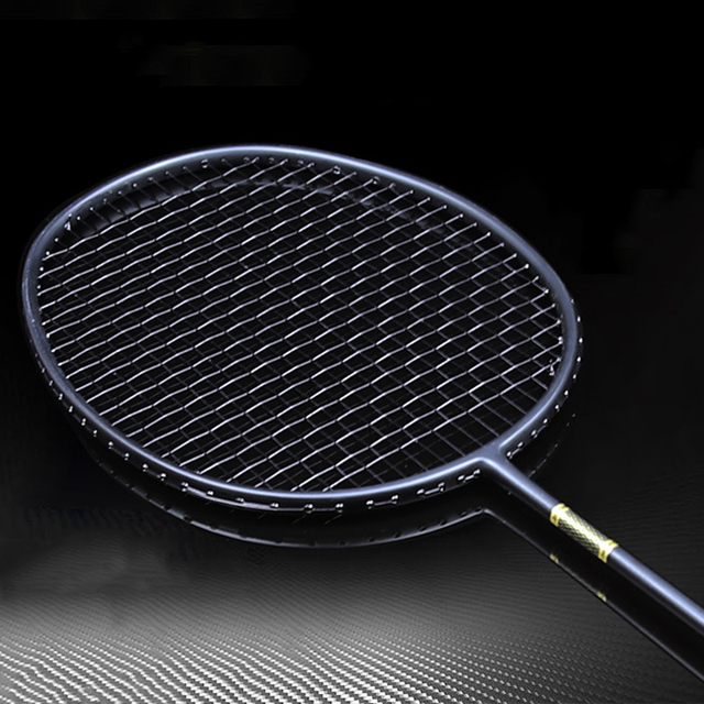 1 Piece Professional 4U 5U Full Carbon Badminton Rackets Offensive Ultralight Training Racket Strings Super Force Raquete Padel