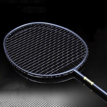 Peça Profissional 4U 1 5U Raquetes de Badminton Total De Carbono Ultraleve Cordas da Raquete de Treinamento Super Força Ofensiva Raquete de Padel