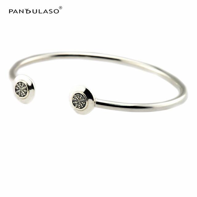 Pan Encantos Pulseira 2016 Nova Moda Original 925-Sterling-Silver Assinatura Pulseiras & Pulseiras para Mulheres Jóias DIY Fazendo