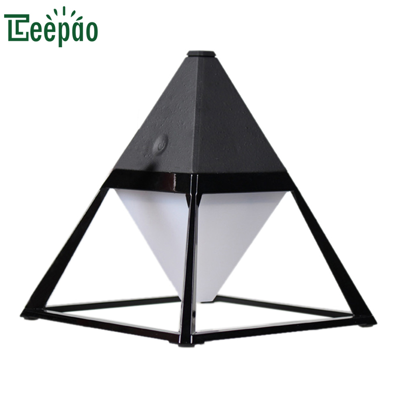 Pyramid Desk Lamp Modern Eye-care LED Table Reading Lamp Decorative Night Light with USB Charging Port Touch Control Desk Light wireless charging touch dimming usb desk lamp led night light modern adjustable reading desk lamps for home luminaria de mesa