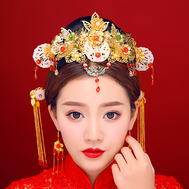 Buy New Chinese Brides Hair Ornaments Red