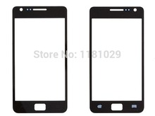 10pcs/lot Whole Sale High Quality Front Glass Lens For Samsung Galaxy S2 i9100 Free Shipping With Logo