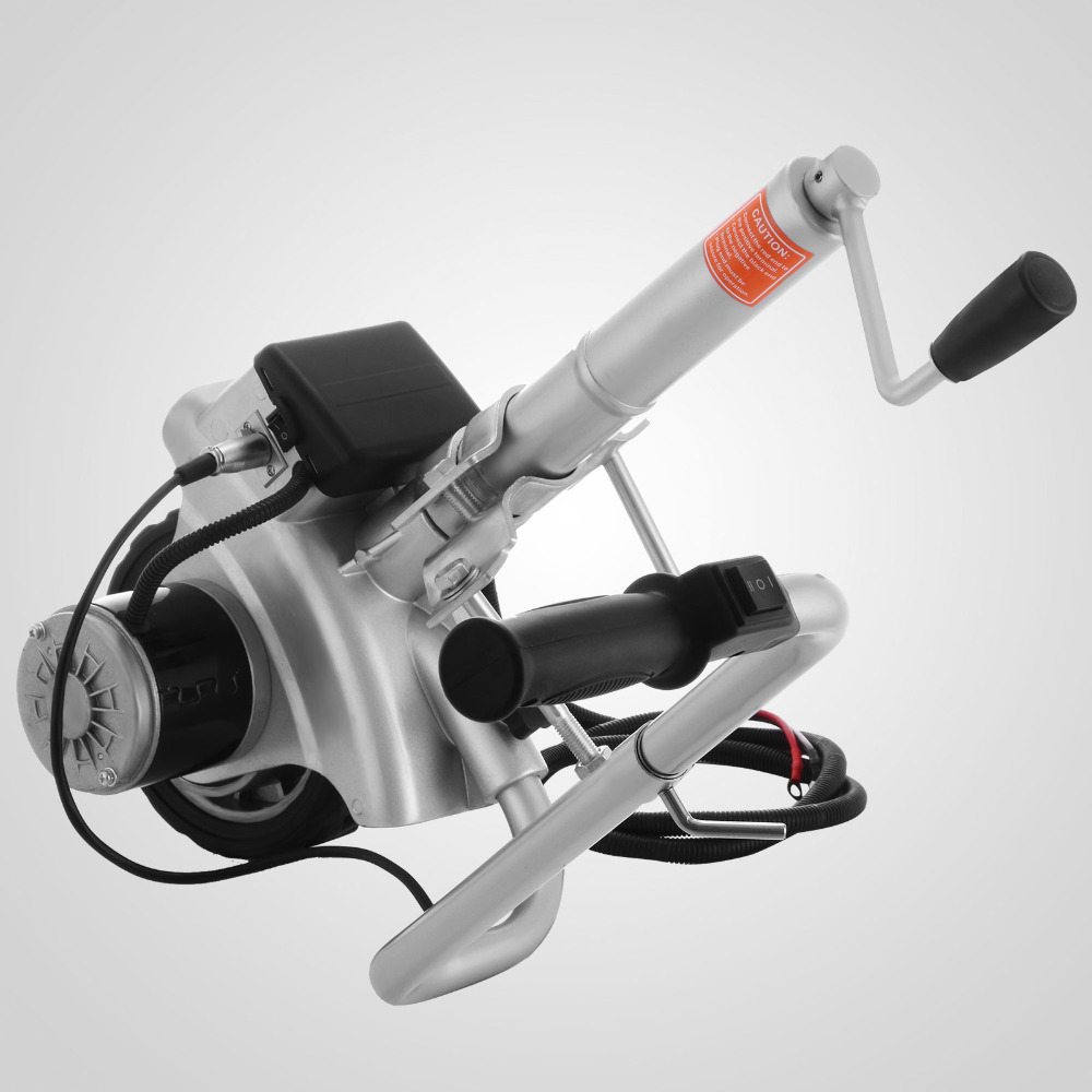 350W Motorised Jockey Wheels 12V Electric Power Move Tool Caravan Trailer Boat Automatic  Brake