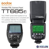 Godox TTL tt685f Камера flash 2.4 г беспроводной HSS 1/8000 s GN60 + XPro F передатчик Kit для Fuji x pro2/x t20/x t1/X T2