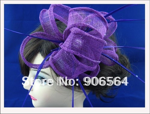 5color can be chosen sinamay fascinator hats ,fashion feather hair accessories ,Very nice,Free shipping!MSF0562