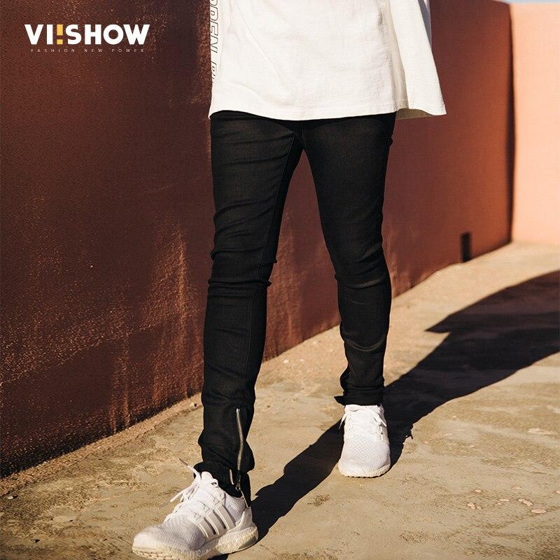 VIISHOW New Men Brand Jeans Fashion Straight Jeans Men Casual Motorcycle Denim Biker Jeans Zip Long Pants Trousers Men NC1927173  new 2017 brand men s jeans casual straight hole men jeans men denim trousers biker jeans free shipping