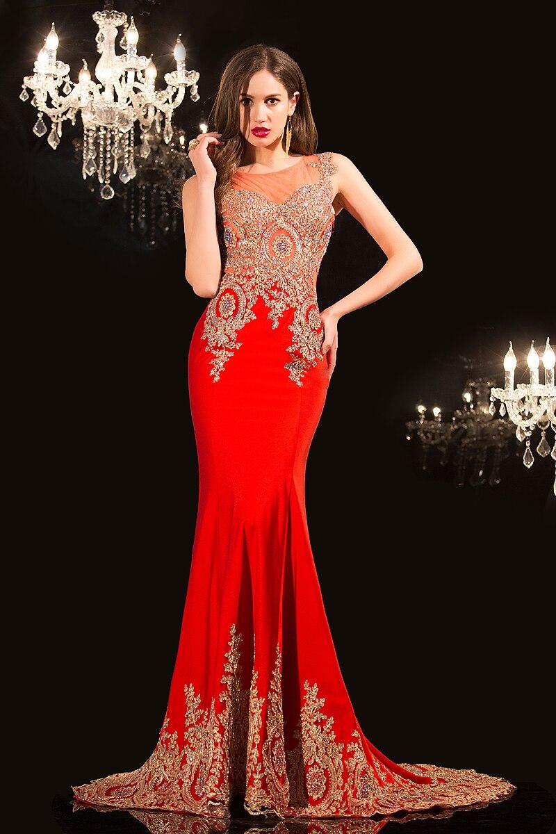 Online Shop Charming 2015 Latest Dress Designs Scoop Mermaid Sheer ...