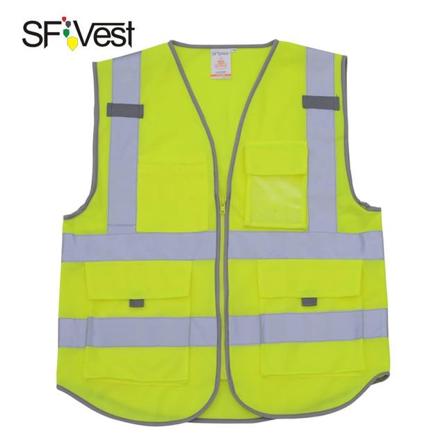 aea0f25f991 Chaleco reflectante SFvest ropa de trabajo de seguridad amarillo chaleco de  seguridad envío gratis