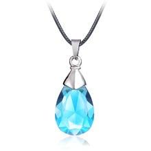 Seksowne Anime SAO Sword Art Online metalowy naszyjnik Yui's Heart niebieski kryształ wisiorek akcesoria Cosplay biżuteria może Drop-shipping