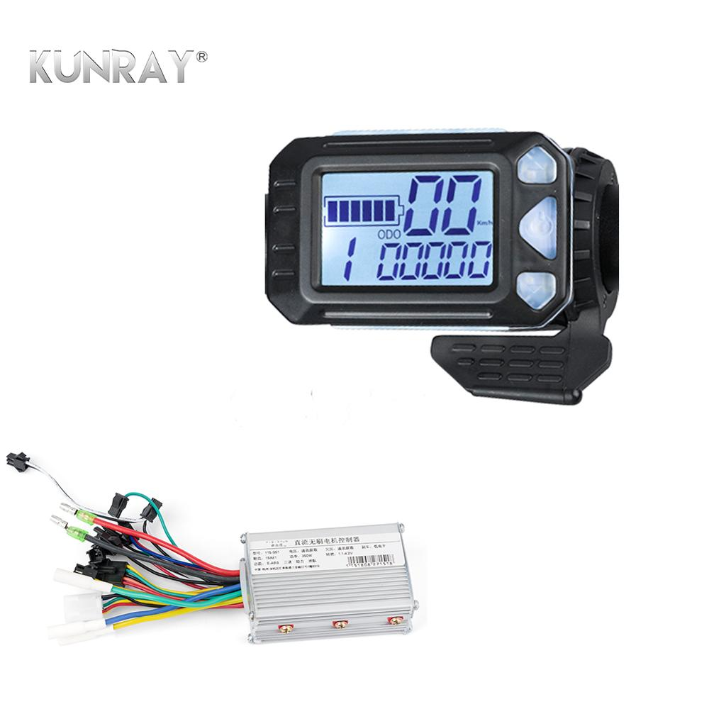 350W Ebike Controller Finger Throttle LCD Display For Electric Bike Electric Scooter Controller Brushless Motor Electric