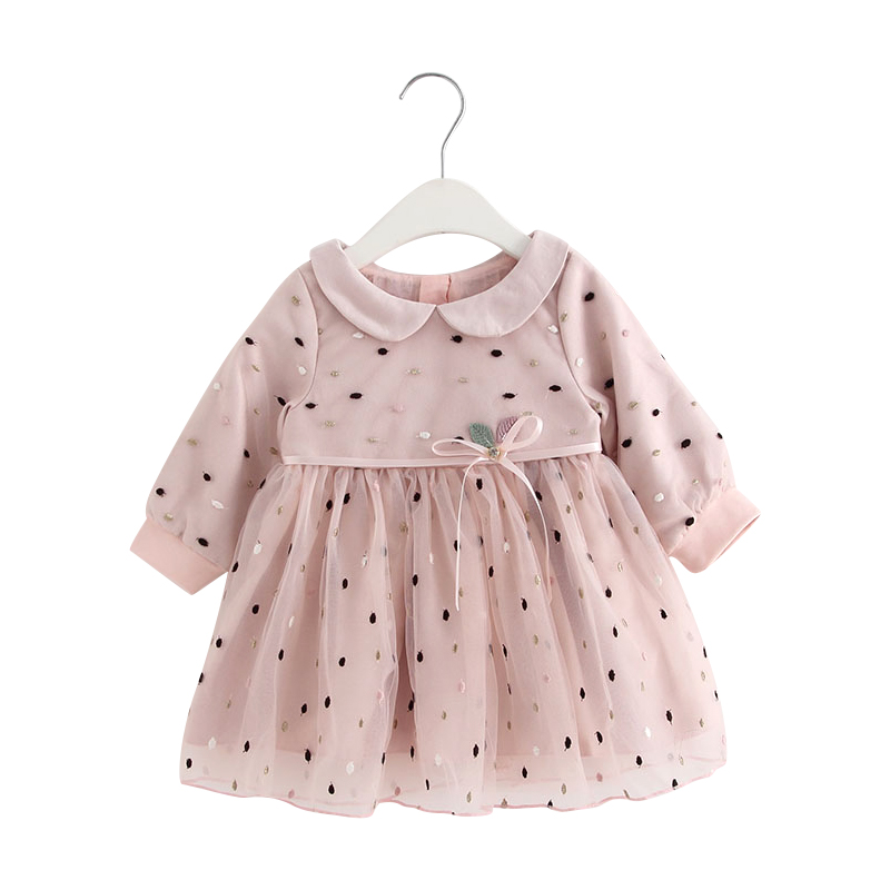 7ad9ede51f4e5 Baby Girl Clothes 2018 New Autumn Winter Toddler Infant Newborn Baby Girls  Dot Princess Party Pageant Dresses 0-24M pink | All Things Baby