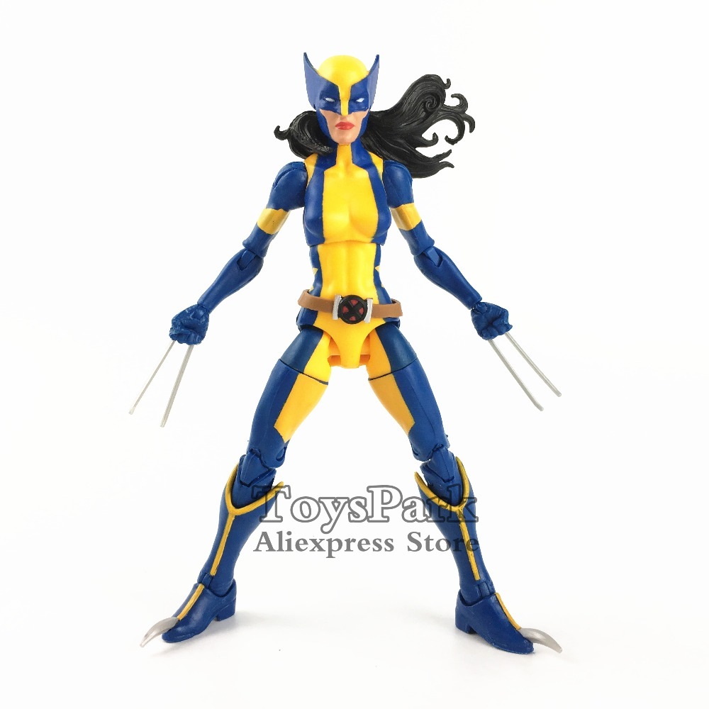 2018 Marvel Legends 6 X 23 Wolverine Lady Action Figure From Sauron BAF Wave X Men Comic Doll Toy Model Collectible Loose 7 marvel legends series x men wolverine claws logan action figure anime doll toy collectible model toys for children gift 18cm